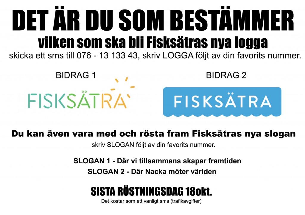 Fisksätra logga - Fisksätras nya logotype