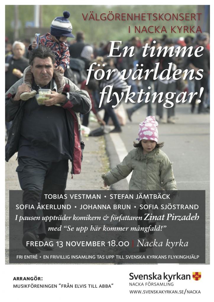 En timme för flyktingar Nacka Kyrka